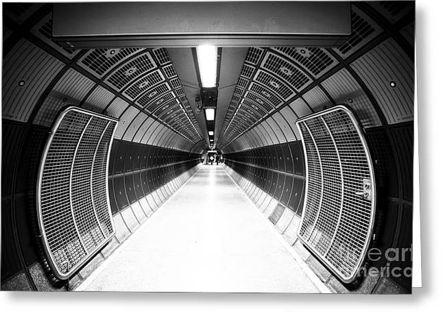 Cylindric Tunnel For Pedestrians Greeting Card