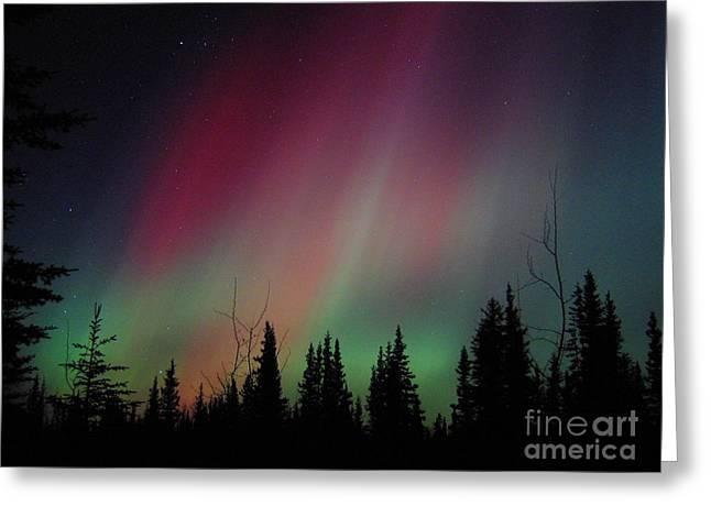D. Aurora Borealis Alaska Red Skies Greeting Card