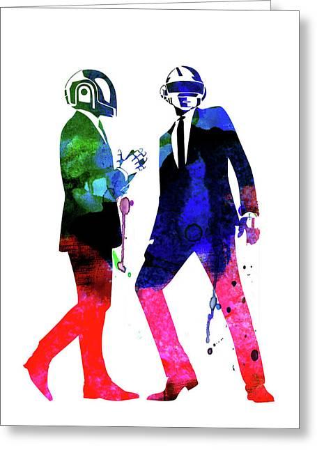 Daft Punk Watercolor Greeting Card