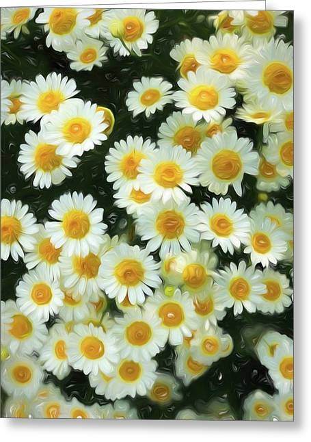 Greeting Card featuring the digital art Daisy Crazy For You by Cindy Greenstein