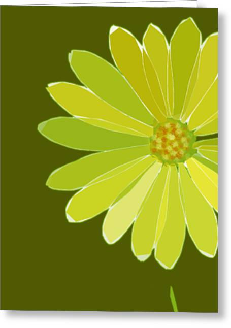 Greeting Card featuring the digital art Daisy, Daisy by Gina Harrison