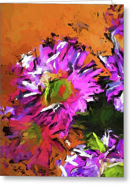 Daisy Rhapsody In Lavender And Pink Greeting Card