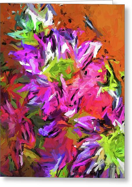 Daisy Rhapsody In Purple And Pink Greeting Card