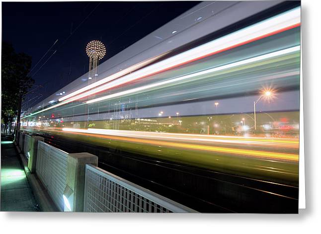 Greeting Card featuring the photograph Dallas Rapid Transit 111918 by Rospotte Photography