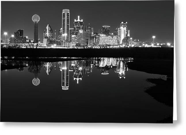 Dallas Texas Cityscape Reflection Greeting Card