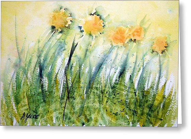Dandelions In The Grass Greeting Card