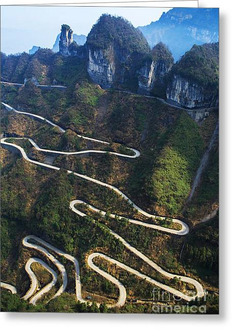Dangerous Path In China Greeting Card