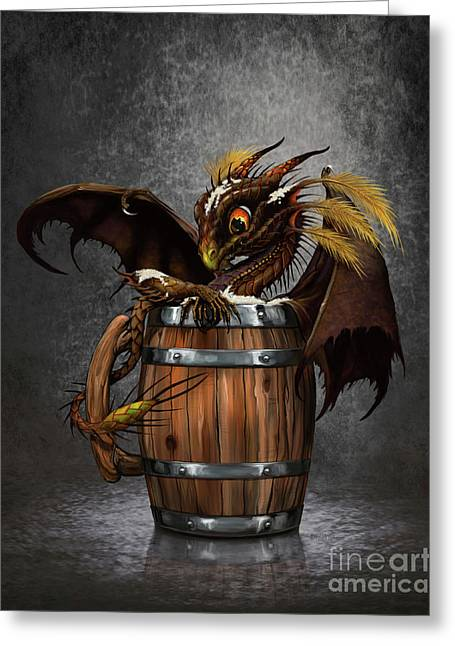 Dark Beer Dragon Greeting Card