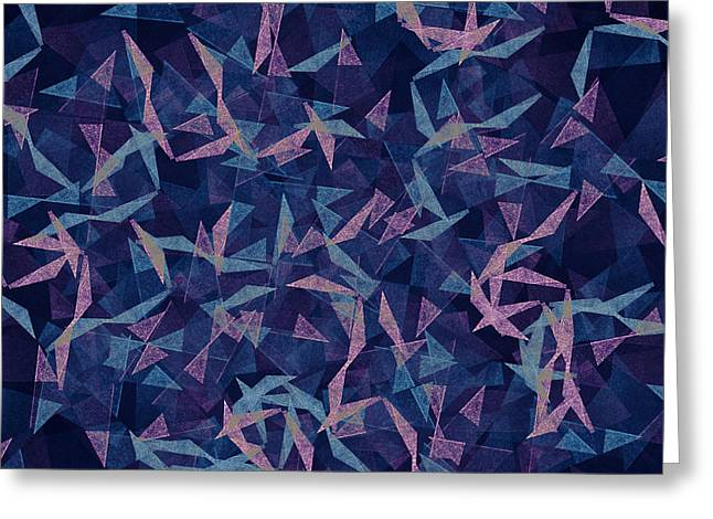 Dark Grungy And Grainy Abstract Color Greeting Card