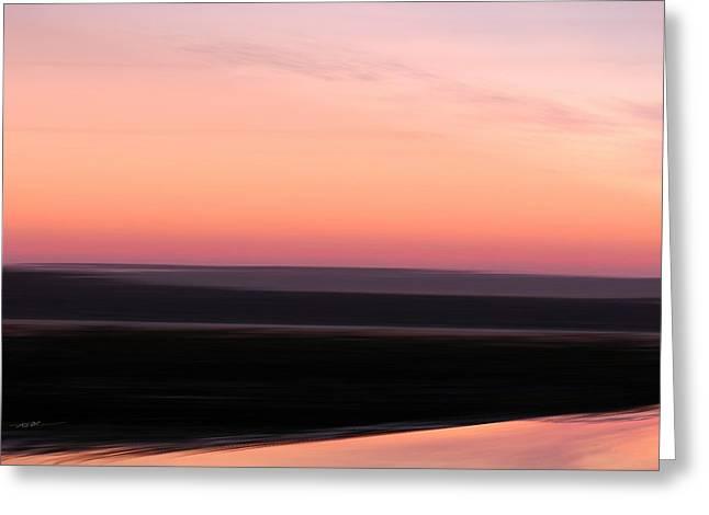 Darkness Settles Over The Desert Greeting Card