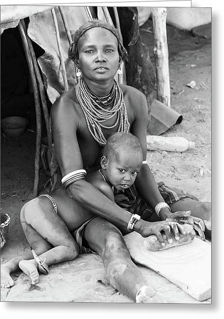 Dassanech Mother And Child Greeting Card