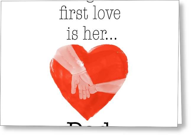 Daughters First Love Greeting Card