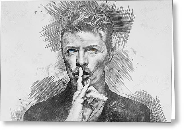 David Bowie. Greeting Card
