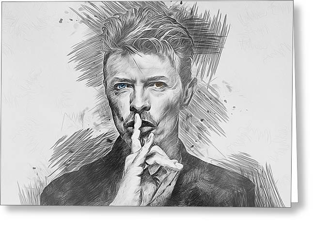 David Bowie. Greeting Card