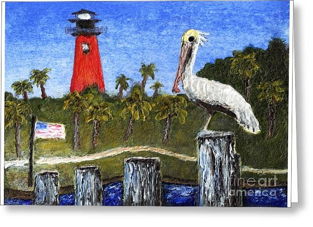 Aceo Dawn At Jupiter Inlet Lighthouse Florida 52a Greeting Card