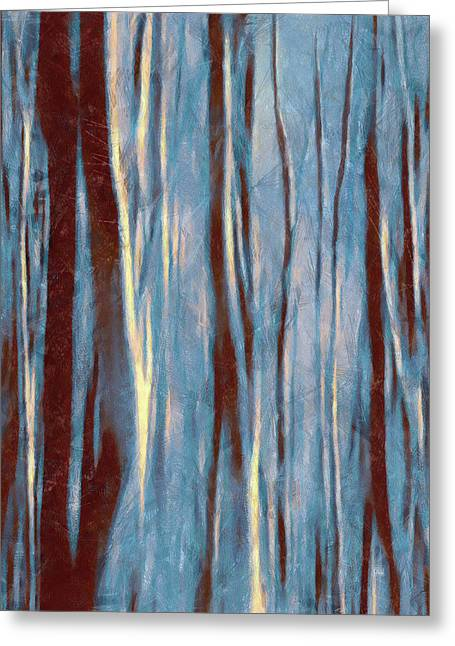 Dawn In The Winter Forest - Landscape Mood Lighting Greeting Card