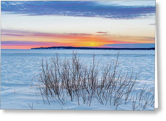 Daybreak Over East Bay Greeting Card