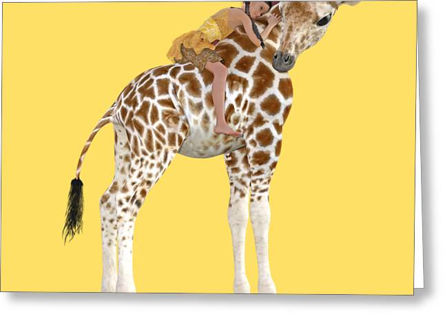 Daydreaming Of Giraffes Png Greeting Card