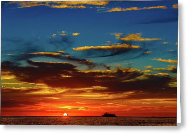 December 17 Sunset Greeting Card