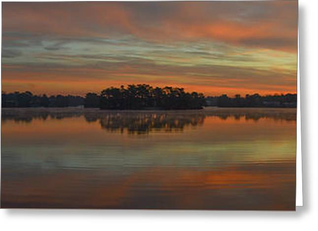December Sunrise Over Spring Lake Greeting Card