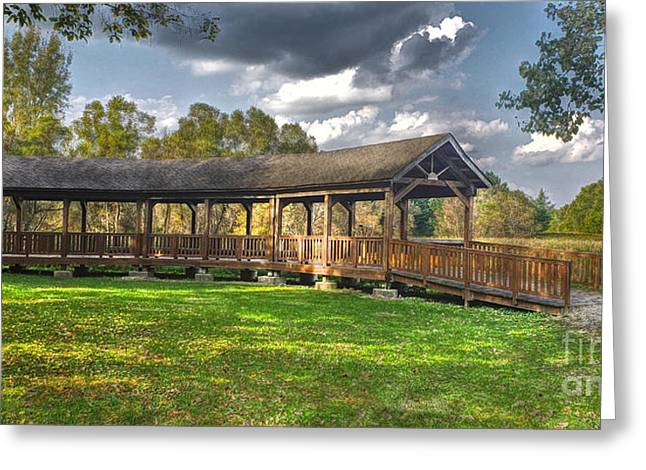 Deck At Pickerington Ponds Greeting Card