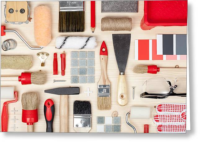 Decorating And House Renovation Tools Greeting Card