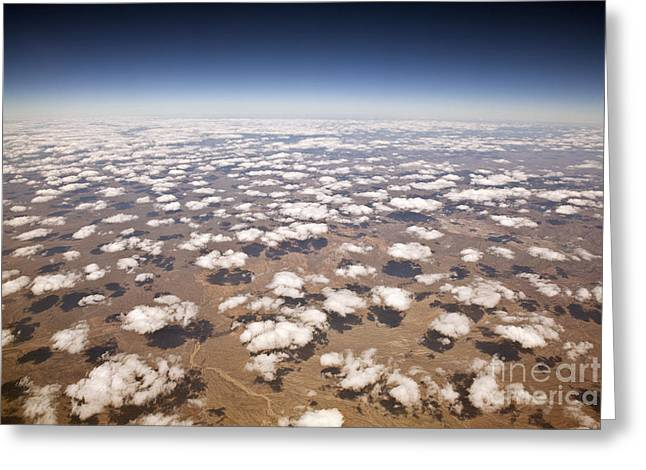 Decorative Clouds Over The Arid Deserts Greeting Card