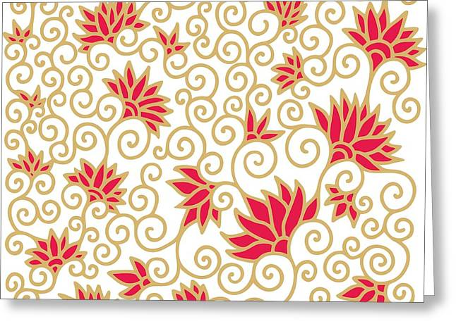 Decorative Floral Composition With Greeting Card by Aniana