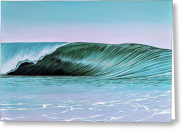 Greeting Card featuring the painting Deep Blue Barrel by William Love