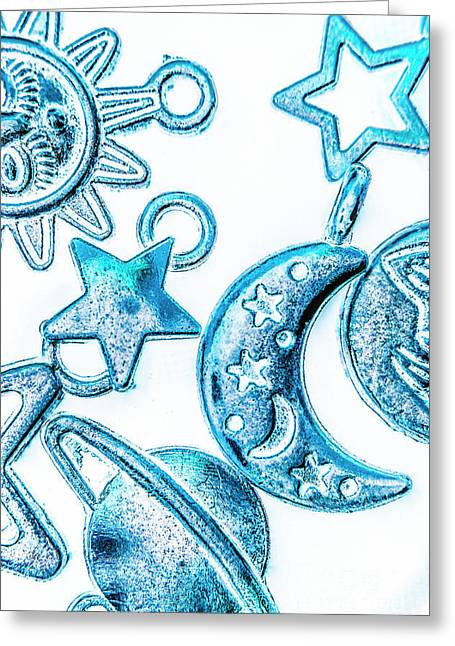 Deep Blue Space Greeting Card
