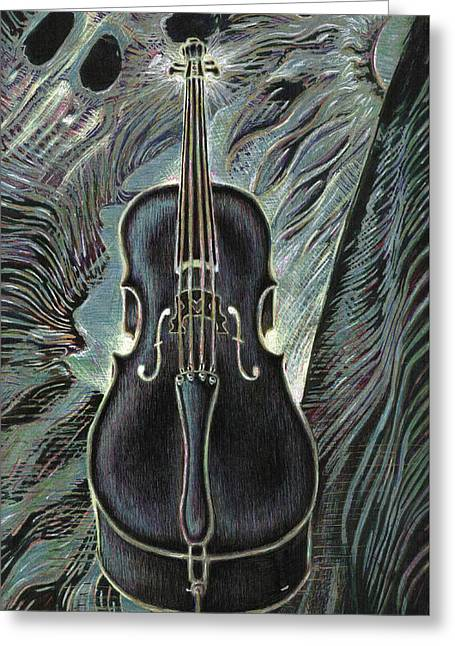 Deep Cello Greeting Card