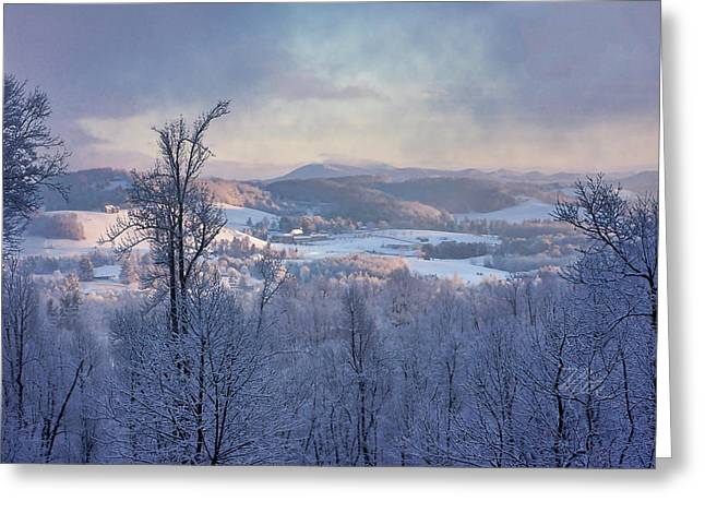 Deer Valley Winter View Greeting Card