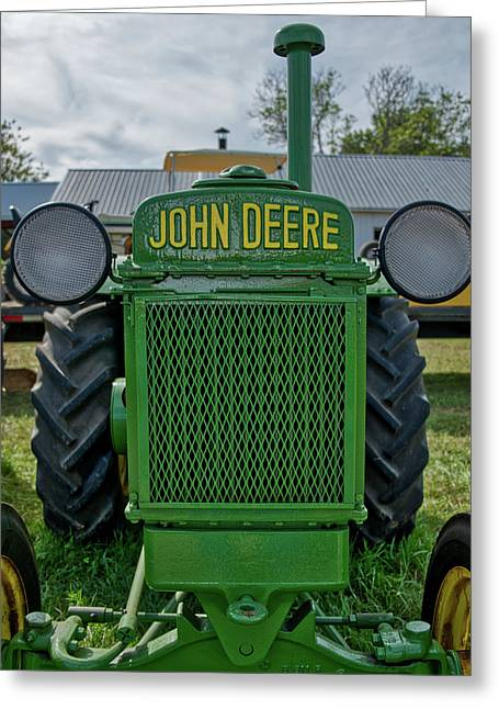 Greeting Card featuring the photograph Deere In Headlights by Mark Dodd
