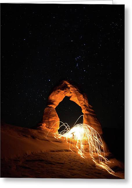 Delicate Arch Steel Wool Greeting Card