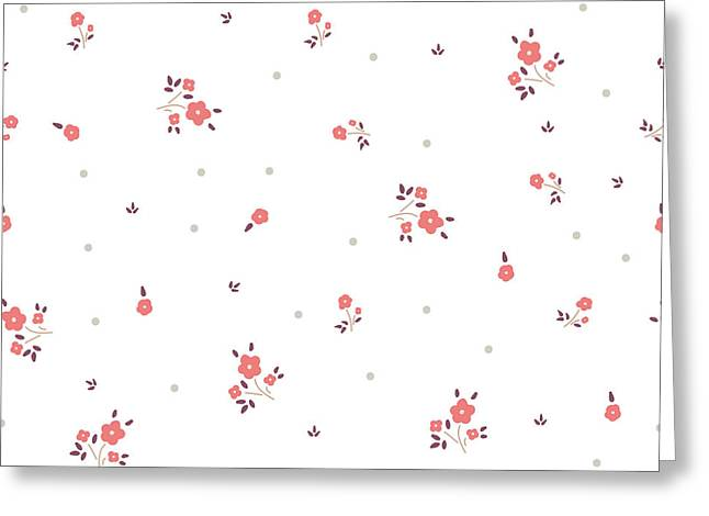 Delicate Floral Background. Pink, Small Greeting Card