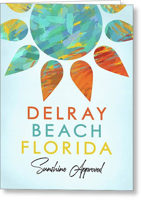 Delray Beach Florida Sunshine Greeting Card