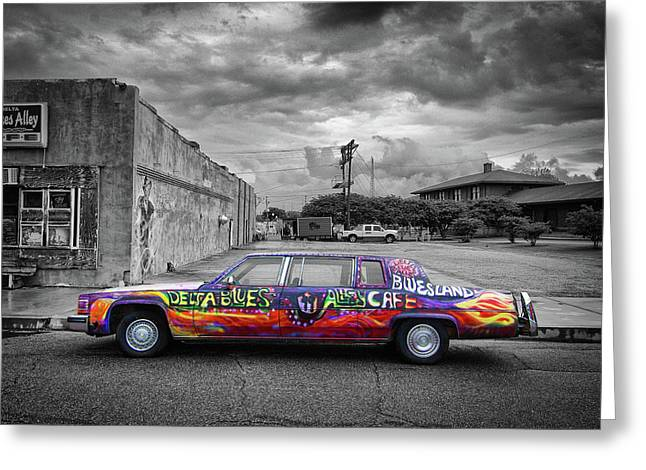 Greeting Card featuring the photograph Delta Blues Limo by Jim Mathis