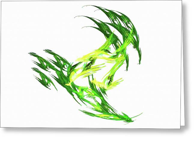 Deluxe Throwing Star Green Greeting Card