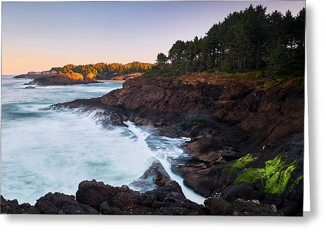 Depoe Bay Sunrise Greeting Card