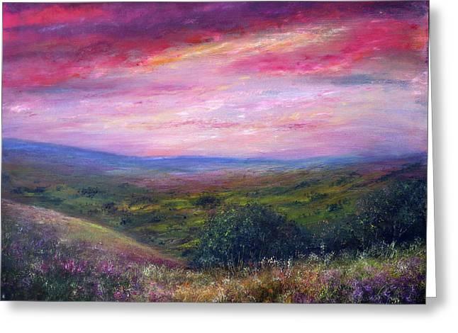Derbyshire Skies Greeting Card by Ann Marie Bone