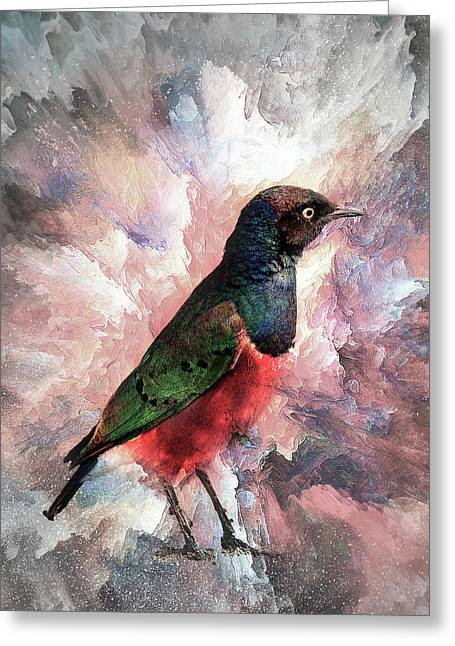 Desaturated Starling Greeting Card