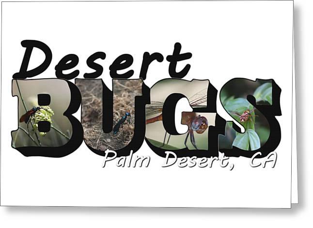 Desert Bugs Big Letter Greeting Card