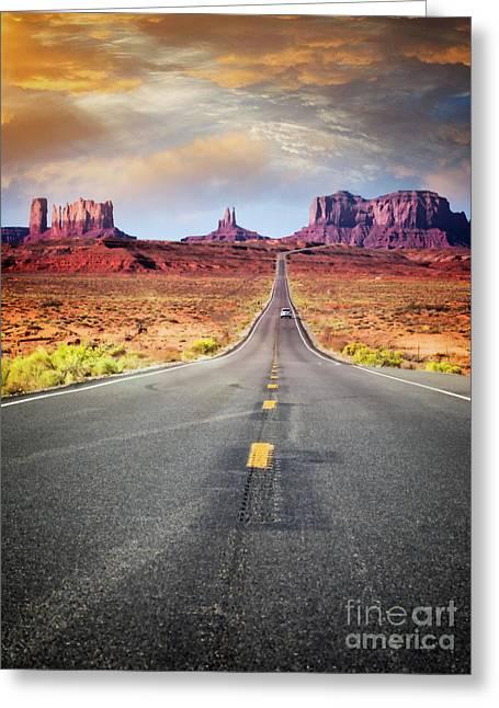 Desert Drive Greeting Card