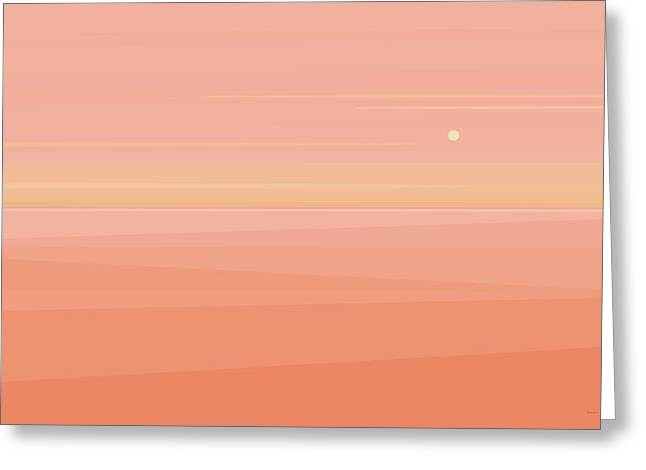 Desert Peach Dawn Greeting Card