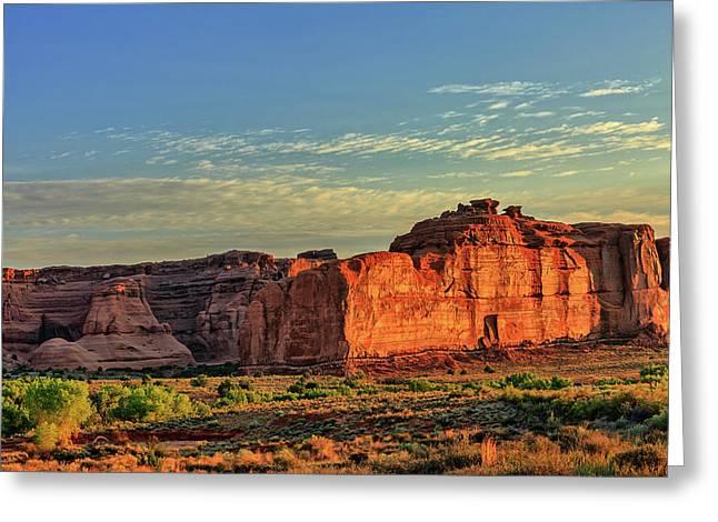 Desert Sunrise In Color Greeting Card