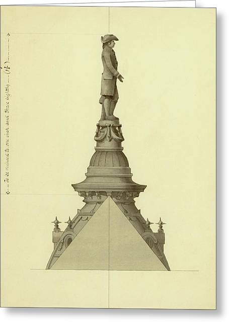 Design For City Hall Tower Greeting Card