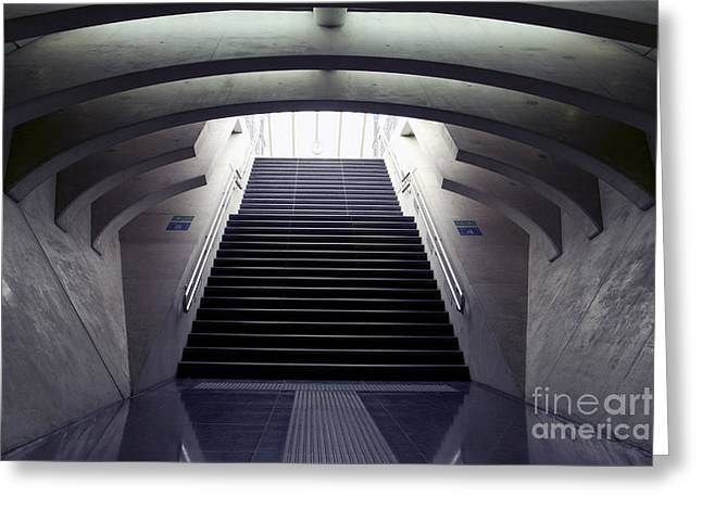 Design Stairs To The Arrival And Greeting Card