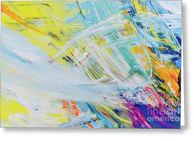 Detail Of Brush Strokes Of Random Colors To Use As Background An Greeting Card