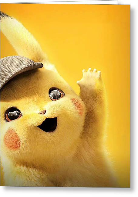 Detetive Pikachu Greeting Card