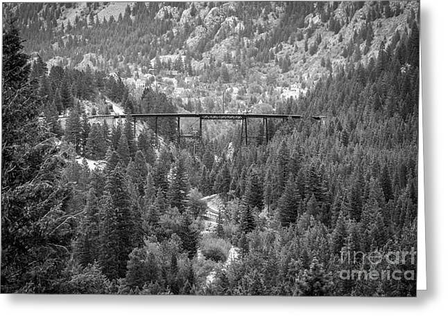 Greeting Card featuring the photograph Devils Gate In Black And White by Jon Burch Photography